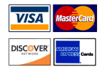 We accept all credit-debit cards