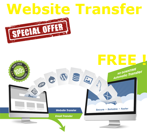 Transfer your website now FREE!